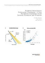 도서 이미지 - Weighted Betweenness Preferential Attachment A New Mechanism Explaining Social Network For