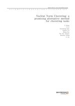 도서 이미지 - Nuclear Norm Clustering a promising alternative method for clustering tasks