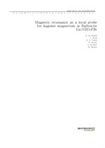 도서 이미지 - Magnetic resonance as a local probe for kagomé magnetism in Barlowite Cu4(OH)6FBr