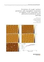도서 이미지 - Evolution of rough-surface geometry and crystalline structures of aligned TiO2 nanotubes f