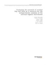 도서 이미지 - Evaluating the potential of residual Pap test fluid as a resource for the metaproteomic an
