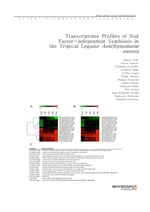 도서 이미지 - Transcriptome Profiles of Nod Factor-independent Symbiosis in the Tropical Legume Aeschyno