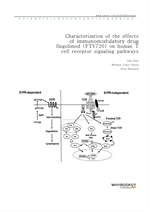 도서 이미지 - Characterization of the effects of immunomodulatory drug fingolimod (FTY720) on human T ce