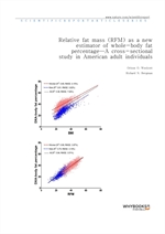 도서 이미지 - Relative fat mass (RFM) as a new estimator of whole-body fat percentage ─ A cross-sectiona