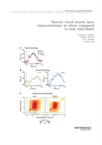 도서 이미지 - Shorter-lived neural taste representations in obese compared to lean individuals