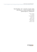 도서 이미지 - Interleukin-27 controls basal pain threshold in physiological and pathological conditions