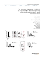 도서 이미지 - The histone chaperone NAP1L3 is required for haematopoietic stem cell maintenance and diff