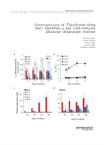 도서 이미지 - Overexpression of Tisochrysis lutea Akd1 identifies a key cold-induced alkenone desaturase