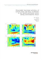 도서 이미지 - Dissociable functional activities of cortical theta and beta oscillations in the lateral p