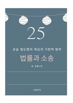 도서 이미지 - 법률과 소송 25. 상습 절도범의 재심과 기판력 범위