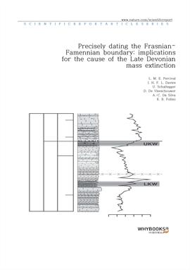 도서 이미지 - Precisely dating the Frasnian-Famennian boundary implications for the cause of the Late De