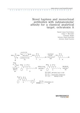 도서 이미지 - Novel haptens and monoclonal antibodies with subnanomolar affinity for a classical analyti