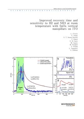 도서 이미지 - Improved recovery time and sensitivity to H2 and NH3 at room temperature with SnOx vertica