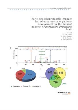 도서 이미지 - Early phosphoproteomic changes for adverse outcome pathway development in the fathead minn