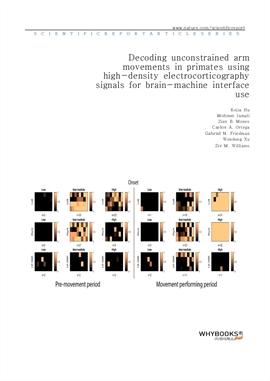 도서 이미지 - Decoding unconstrained arm movements in primates using high-density electrocorticography s