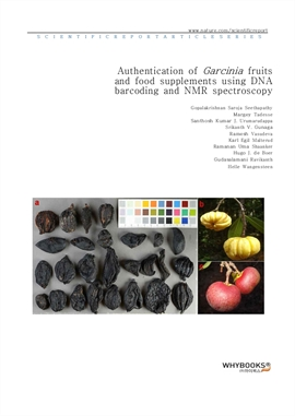 도서 이미지 - Authentication of Garcinia fruits and food supplements using DNA barcoding and NMR spectro