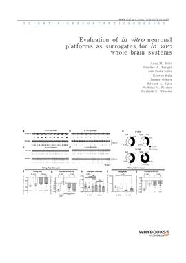 도서 이미지 - Evaluation of in vitro neuronal platforms as surrogates for in vivo whole brain systems