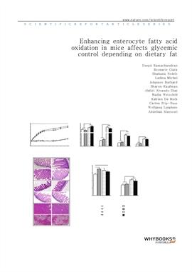 도서 이미지 - Enhancing enterocyte fatty acid oxidation in mice affects glycemic control depending on di