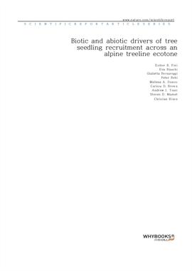 도서 이미지 - Biotic and abiotic drivers of tree seedling recruitment across an alpine treeline ecotone