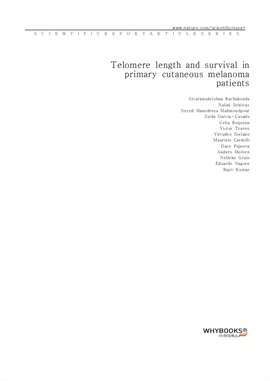 도서 이미지 - Telomere length and survival in primary cutaneous melanoma patients