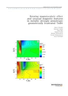 도서 이미지 - Rotating magnetocaloric effect and unusual magnetic features in metallic strongly anisotro