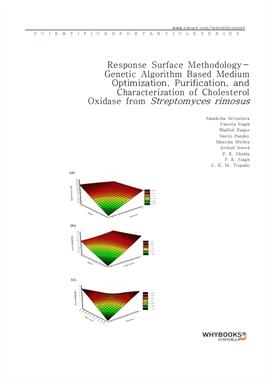 도서 이미지 - Response Surface Methodology-Genetic Algorithm Based Medium Optimization, Purification, an