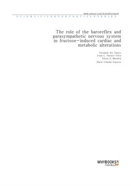 도서 이미지 - The role of the baroreflex and parasympathetic nervous system in fructose-induced cardiac