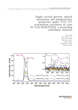 도서 이미지 - Single crystal growth, optical absorption and luminescence properties under VUV-UV synchro