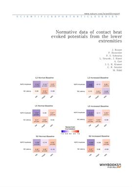 도서 이미지 - Normative data of contact heat evoked potentials from the lower extremities
