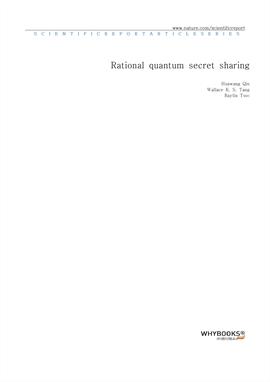 도서 이미지 - Rational quantum secret sharing
