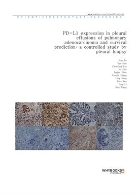 도서 이미지 - PD-L1 expression in pleural effusions of pulmonary adenocarcinoma and survival prediction