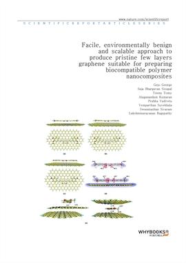 도서 이미지 - Facile, environmentally benign and scalable approach to produce pristine few layers graphe