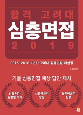 도서 이미지 - 합격 고려대 심층면접 2019